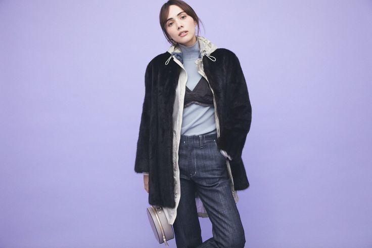 ニット+パンツの定番コンビ、レイヤードでどう変える?vol.2 #ファッション#大人コーデ#デニムスタイル#デニムコーデ#シンプルコーデ