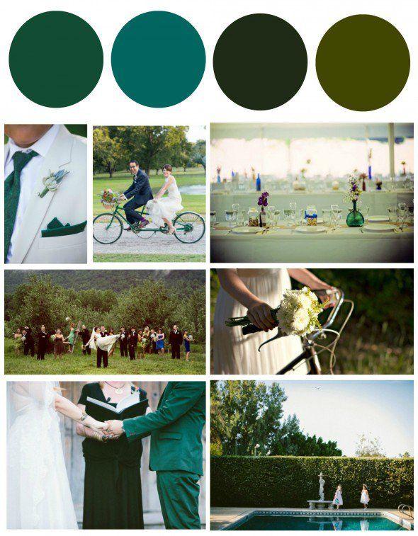 Green Wedding Color Theme