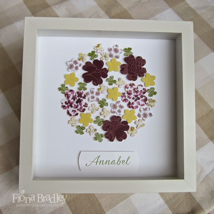 Flower shadow box $35 customised (+ postage Australia wide only) Just Spiffing - Fiona Bradley - Stampin Up