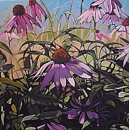 """""""Shaded Coneflowers"""" by Jeremy Vaughan"""