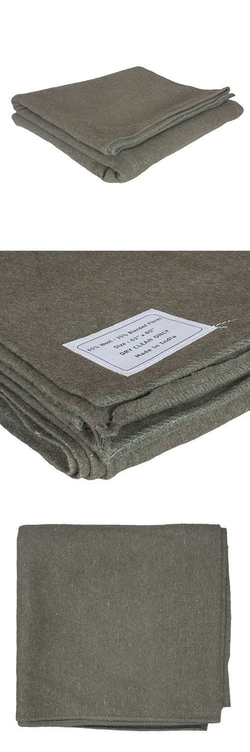 Blankets and Liners 111261: French Army Style Wool Blanket, Home, Survival, Emergency, 65% Wool - 62 X 80 BUY IT NOW ONLY: $34.95