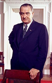 Portrait de Lyndon B. Johnson, en 1964.