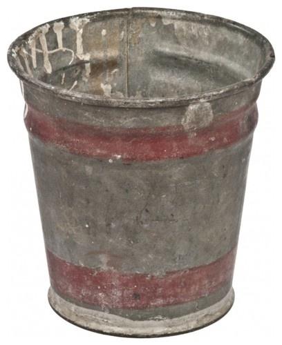 Zinc Flower Bucket eclectic gardening tools