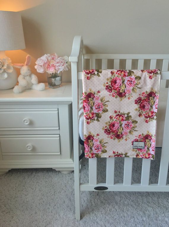 Baby Accessories Rambling Roses Baby Blanket Baby Girl Blanket by ShopRitzyBaby