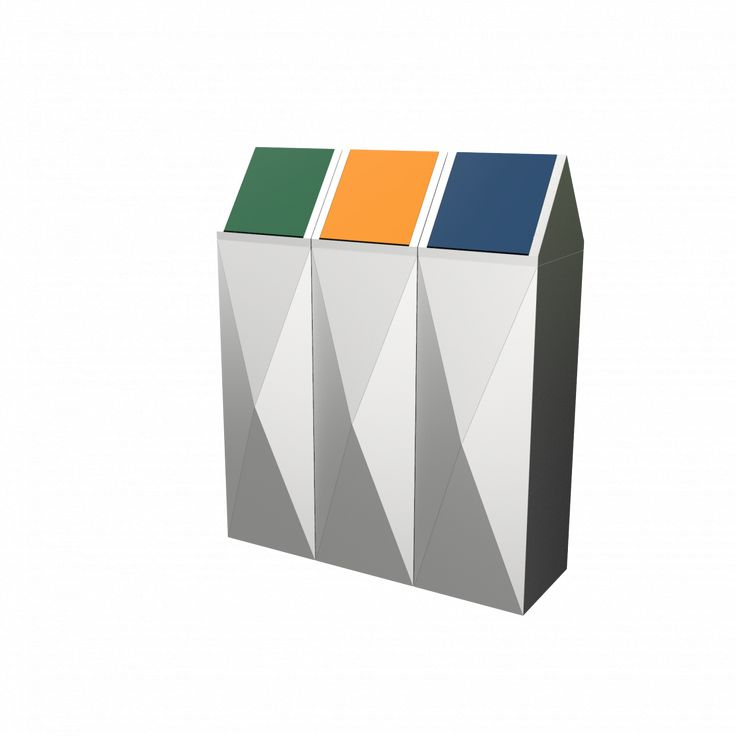 SCOPI SST -  Urban concept design stainless steel recycling bins set