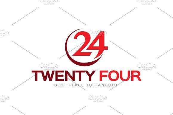 Twenty Four Logo by LogoLabs on @creativemarket