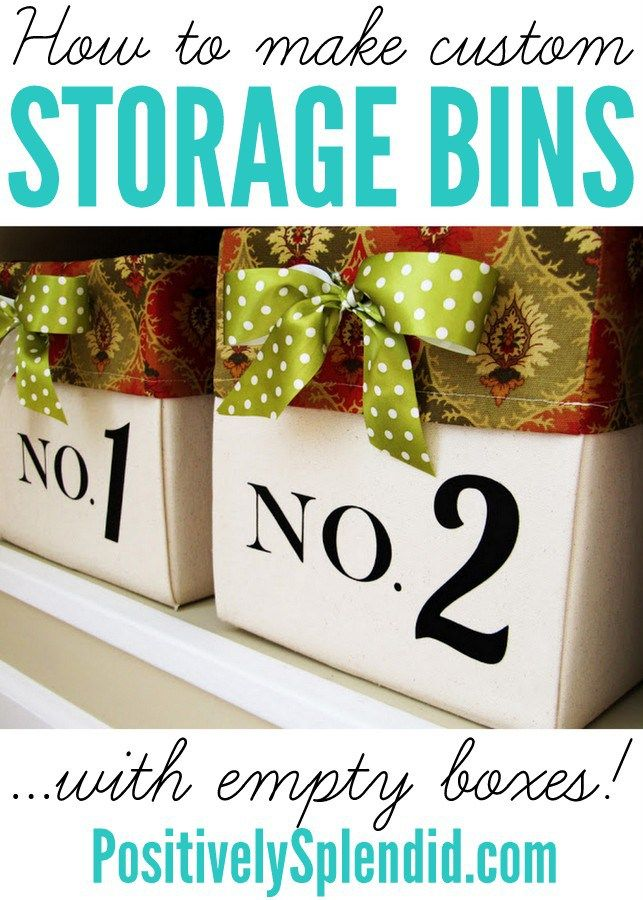 Lined Canvas Bins (from Diaper Boxes!) - Positively Splendid {Crafts, Sewing, Recipes and Home Decor}