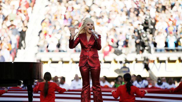 Lady Gaga Slayed the National Anthem to Open Super Bowl 50