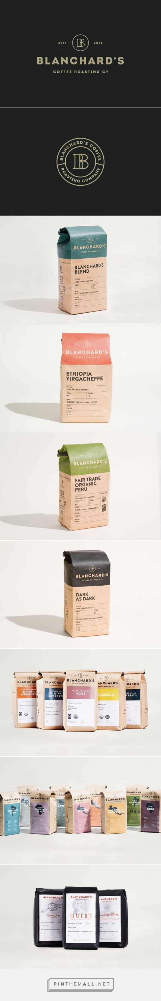 Blanchard's — Skirven & Croft   Packaging Design   Pinterest / Ideas / Inspiration / Food / Coffee / Organic / Natural / Retro / Vintage / Minimalist / Branding / Paper Bag