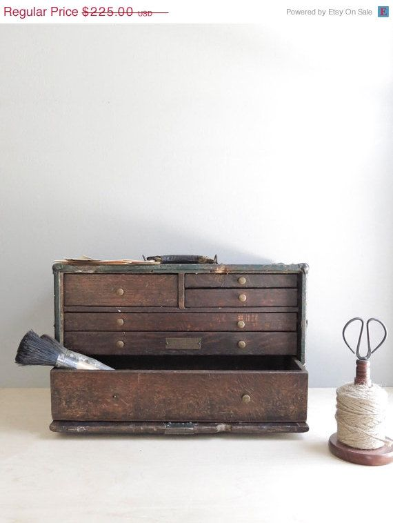SALE 25% OFF machinist's tool chest no. 1 / industrial drawer storage on Etsy, £110.88