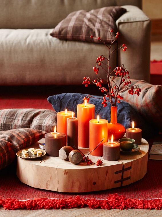 30 best herbstdeko warm kuschelig images on pinterest warm decorating and homes. Black Bedroom Furniture Sets. Home Design Ideas