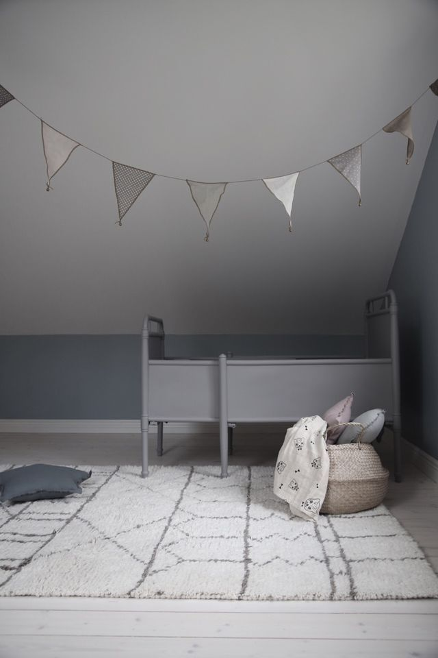 Grey on grey kids room. @littledreambird