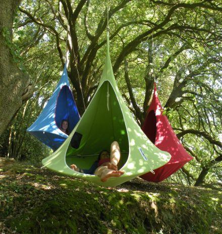 Hoe gaaf, een hangmat tent (Cacoon hangende tent)