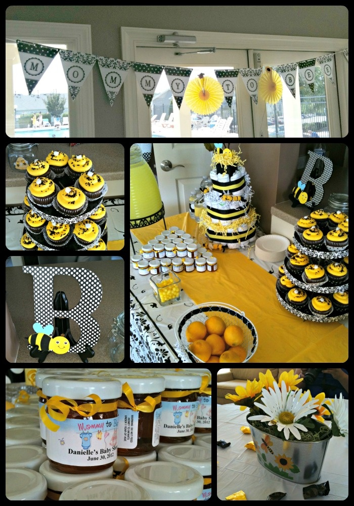 A Beautiful Yellow, Black, & White Baby Shower In A Bee
