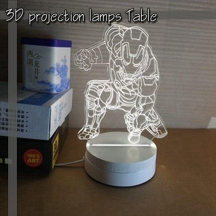 32.00$  Watch now - http://alid3c.shopchina.info/go.php?t=32723802300 - Iron Man stereoscopic 3D cartoon lamp night light bedside lamp creative LED lamp decoration  #buyonline