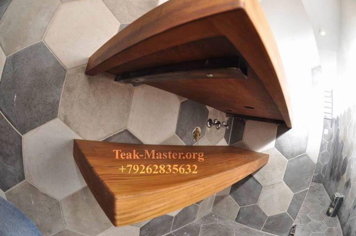 Тиковое дерево в ванной комнате, на ул. Каманина, от ТикМастер!