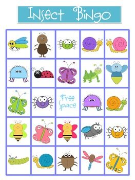 Free! Insect bingo game