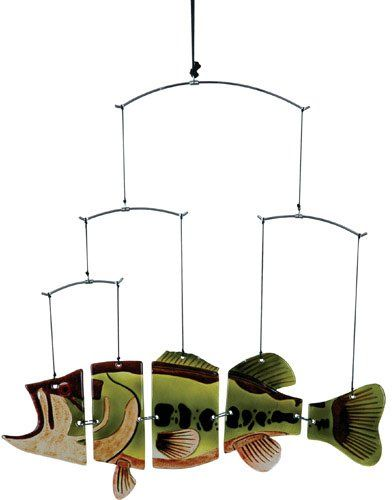 Suspension Fish Mobile, Large Mouth Bass