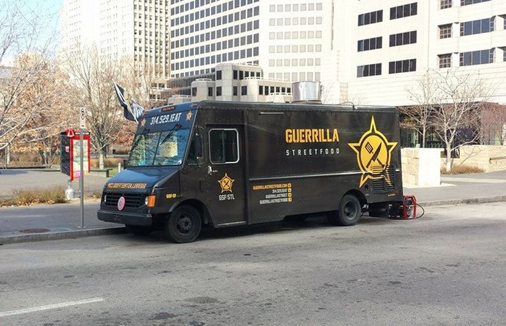 The Daily Meal 101 Best Food Trucks in America 2015 -- 25 GUERRILLA STREET FOOD, ST. LOUIS The rotating menu of dishes at Guerrilla Street Food might require a little explanation to those who are less than familiar with Filipino cuisine, but you don't need a passport to order Guerrilla's signature dish, the Flying Pig. It's slow-roasted pork set on jasmine rice, topped with egg, and accented by calamansi tartness and sriracha heat. Don't miss the Filipino blue crab ceviche.