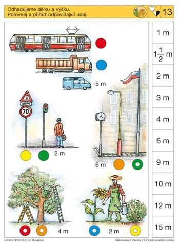 Soubor Logico Piccolo Zlomky a smíšená čísla Vhodné pro děti od 7 let Soubor obsahuje 16 různých karet. *  Znázorňujeme zlomky – přiřazování rovinných modelů zlomku  *