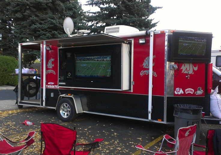 Make a badass trailer for Cougar Tailgating! Note the keg tap and red solo cup dispenser :)
