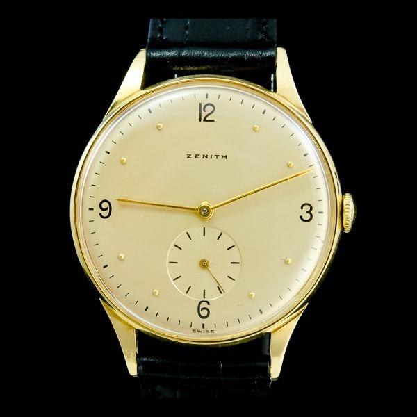 ZENITH-VINTAGE or jaune 18k, 34mm, manuel. Disponible immédiatement sur notre site: http://www.joaillerie-royale.com/114-montres-vintage