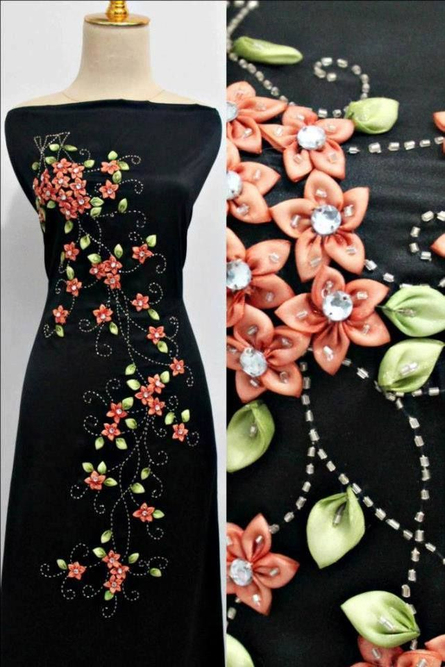 Best images about ribbon embroidery flowers etc on