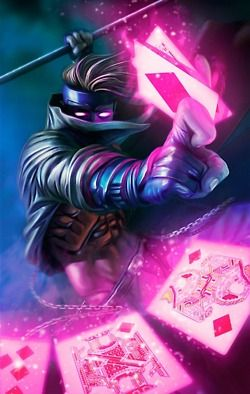 Gambit This is my inner nerd coming out oh how i want to see him in a xman movie!