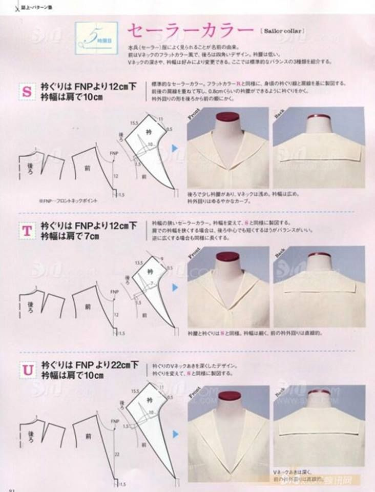 Sailor collar drafting