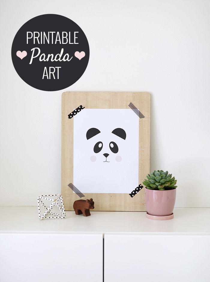 free printable panda print
