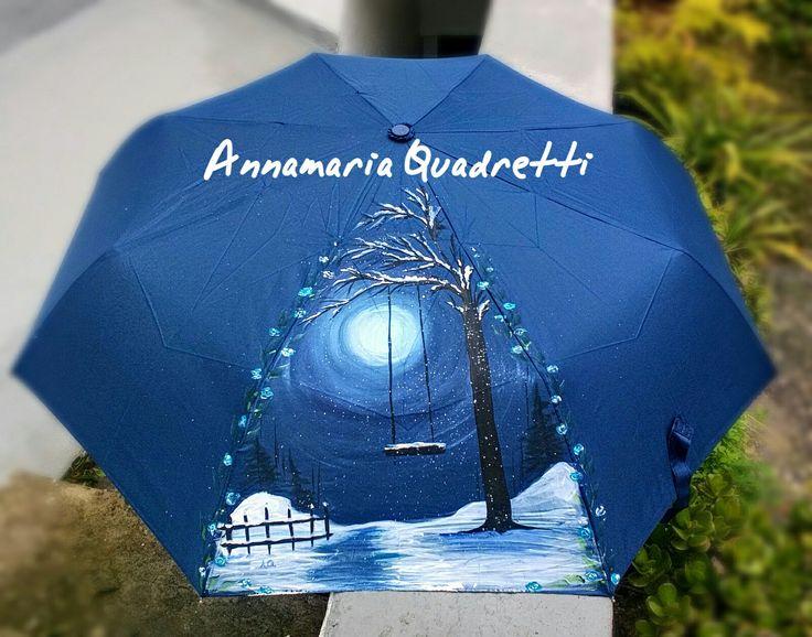 Pittura .... Ombrello dipinto con acrilici