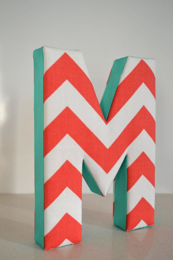 LETTER WALL ART Fabric Letter M in
