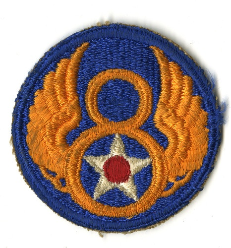 Shoulder Patch, 8th Air Force. I have my dad's along with his wings
