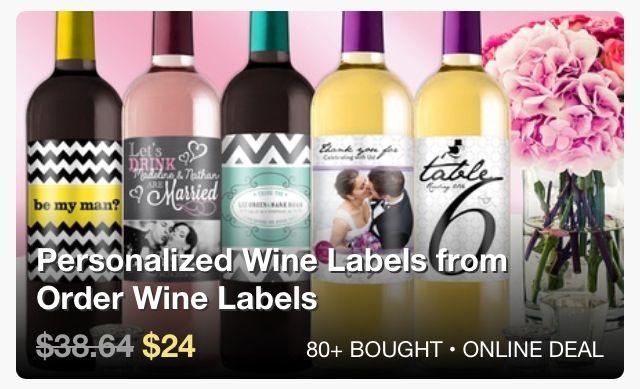 wine label groupon
