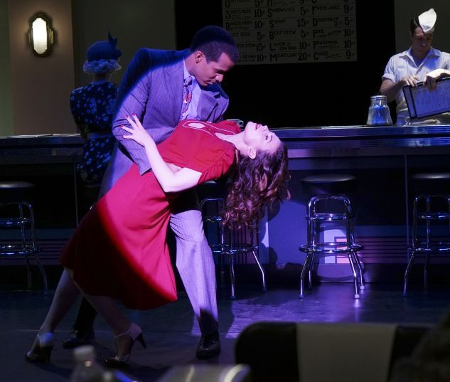 Doctor Jason Wilkes (Reggie Austin) & Peggy Carter (Hayley Atwell) share a dance in Marvel's Agent Carter