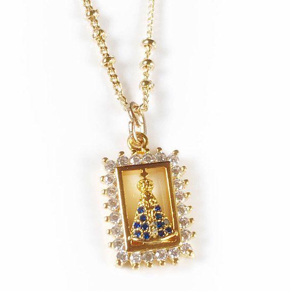Venezuelan Jewelry Virgen del Valle Medal Necklace Virgin #catholic #jewelry #giftidea
