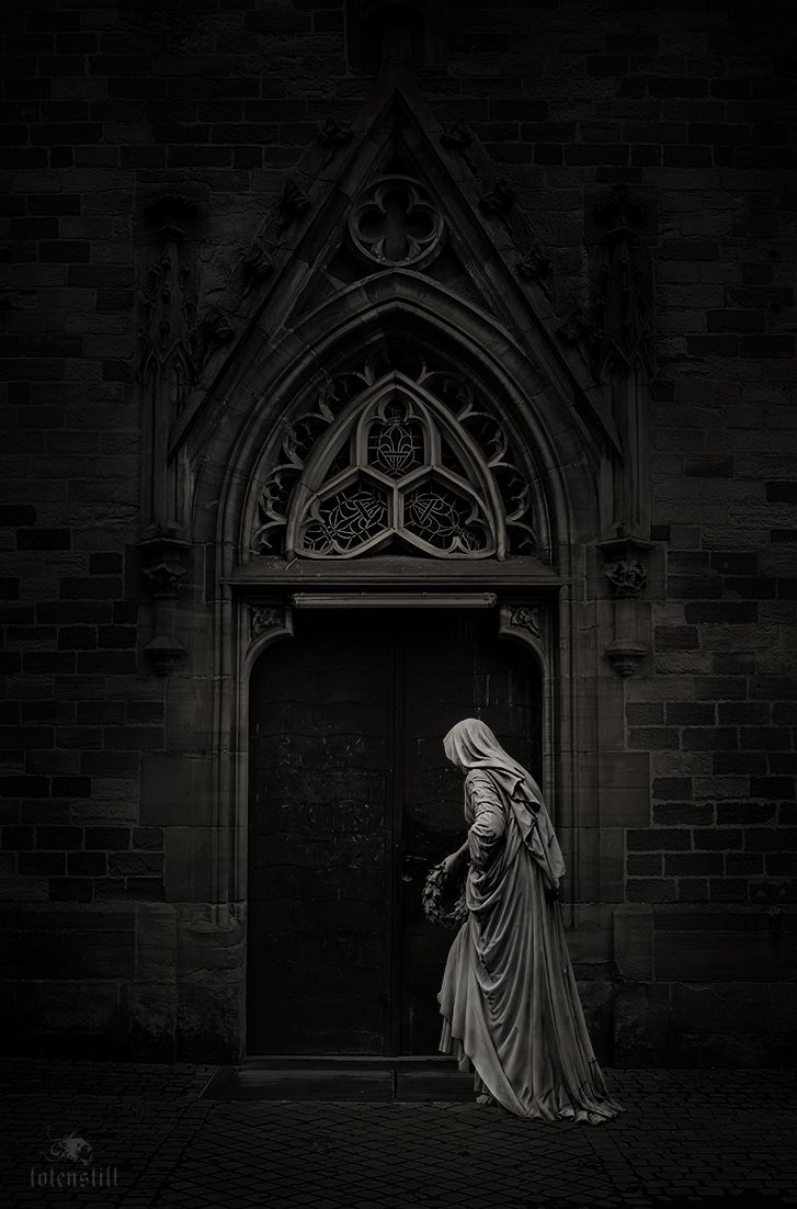 Gothic, Cemetery, Friedhof, Collage,