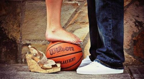 Cute basketball couple picture