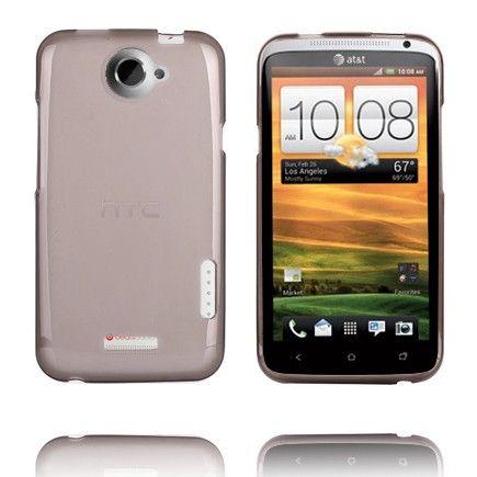 TPU Shell (Transparent Grå) HTC One X Cover