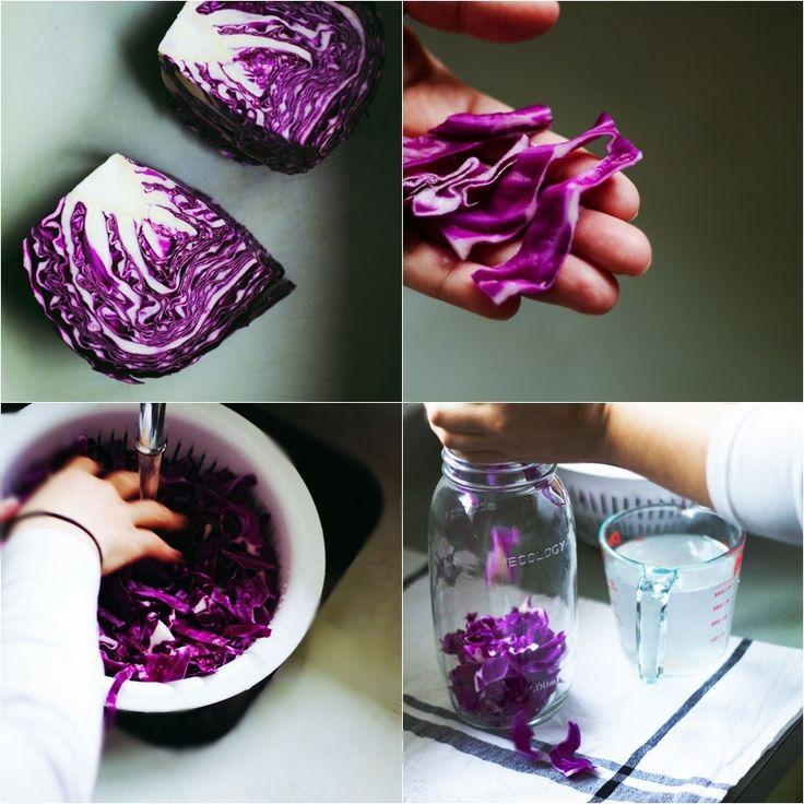Fermented Vegetables + Natural Probiotics Fermenting Red Cabbage! Also #Vegan #Raw #GlutenFree #DairyFree