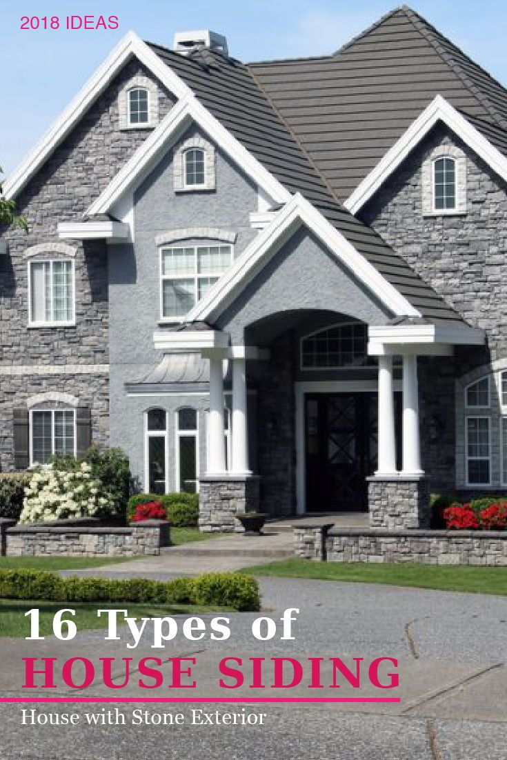 17 Different Types Of House Siding With Photo Examples House Siding Different Types Of Houses Types Of Houses