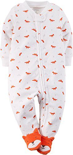Carters Baby Boys Fox Fun Zip Up Sleep & Play   Carters Baby Boys Fox Fun Zip Up Sleep & Play Carter's offers cute and comfortable clothing with soft durable fabrics! This one-piece sleep and play zips from neck to ankles for easy changes and features an allover fox print and built in character footies. 100% Cotton.  http://www.allsleepwear.com/carters-baby-boys-fox-fun-zip-up-sleep-play-2/