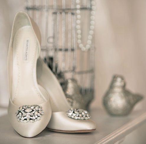 """Lamour"" shoes by Benjamin Adams via www.aubresbridal.com"