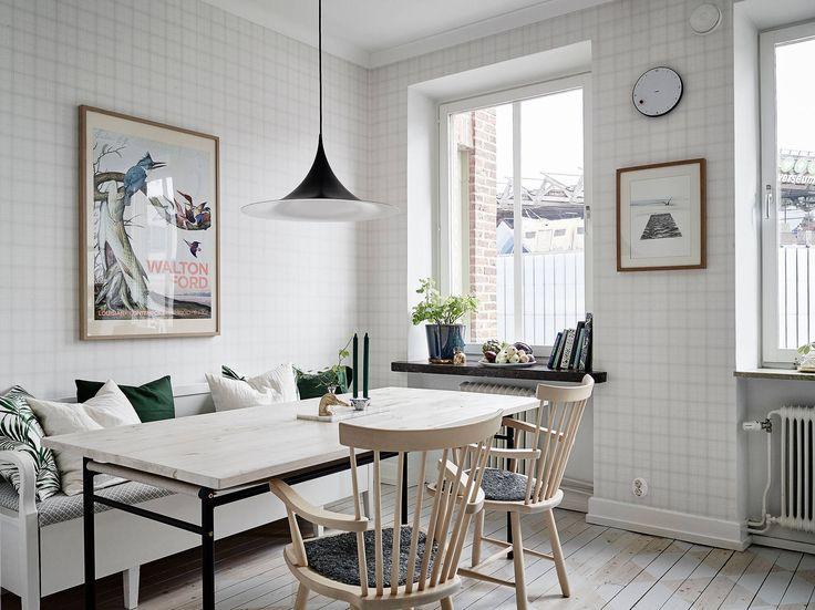 Cozinha linda e iluminada | cantinho da mesa de jantar