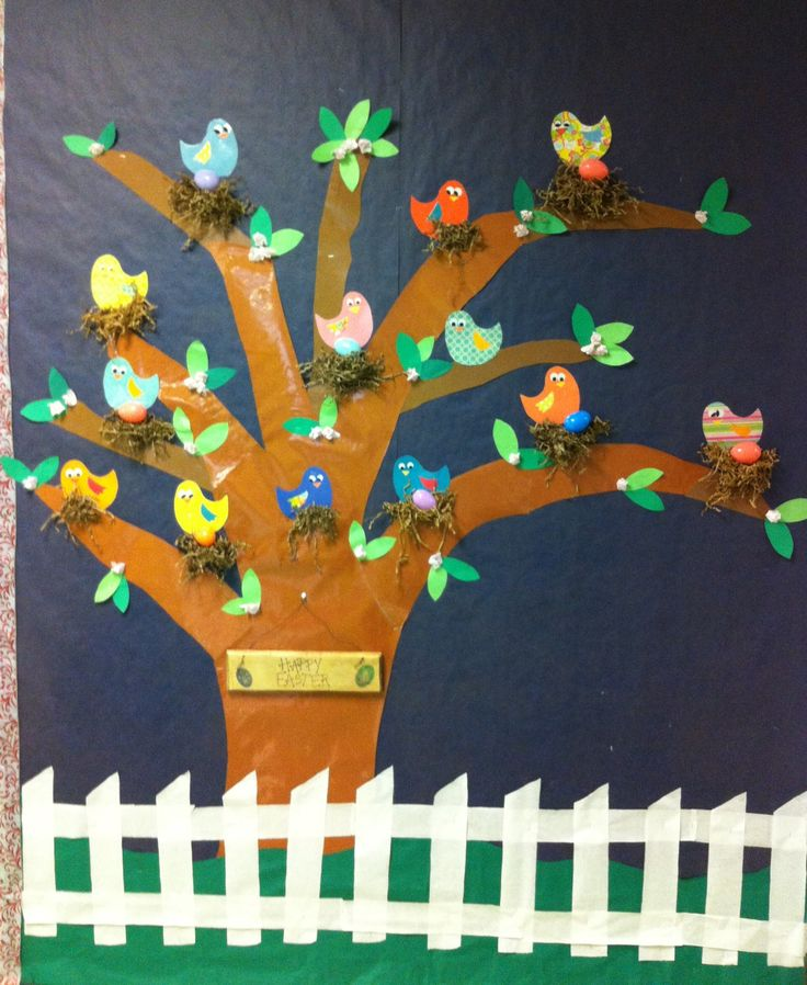 Classroom Board Ideas For Preschool ~ Finished this spring bulletin board for our classroom