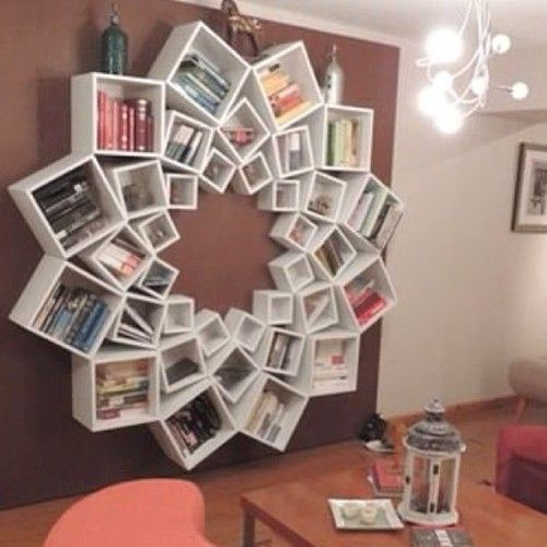 Way more fun than the standard book shelf!