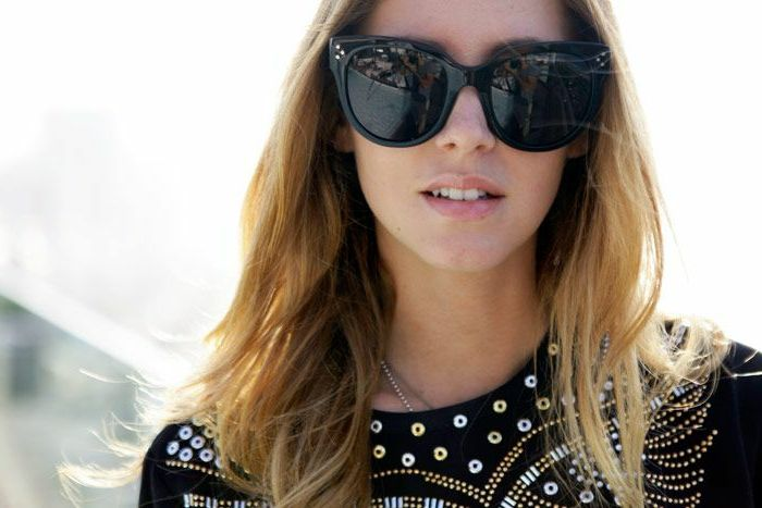 Chanel Sonnenbrille klassisch schwarz