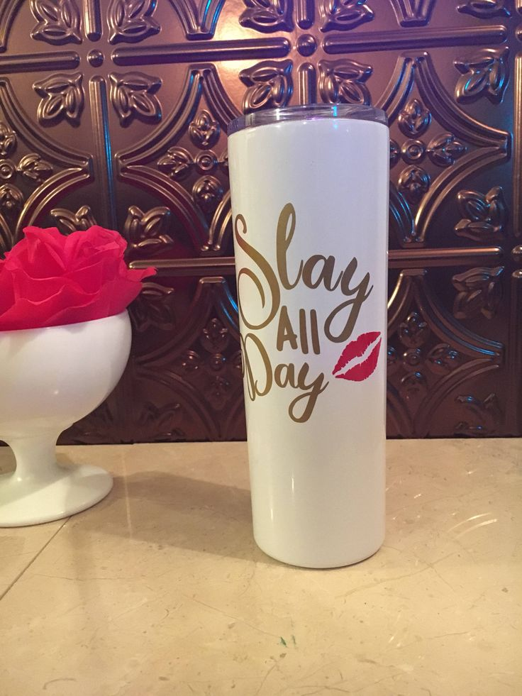 Excited to share the latest addition to my #etsy shop: Slay All Day Skinny Tumbler