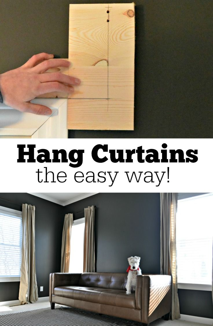 DIY: Hang curtains the easy way with this DIY Template!  Easy to customize!