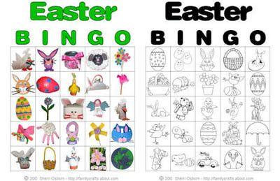 Printable Easter Bingo Cards